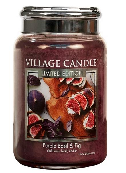 Village Candle Purple Basil & Fig Large Jar