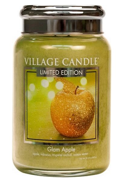 Village Candle Glam Apple Large Jar