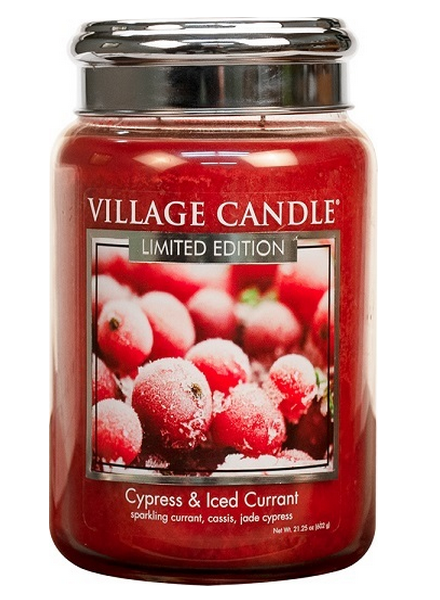 Village Candle Cypress & Iced Currant Large Jar