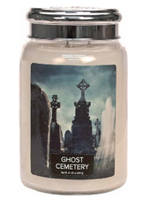 Village Candle Ghost Cemetery Large Jar