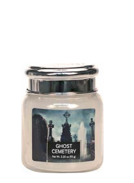 Village Candle Ghost Cemetery Mini Jar