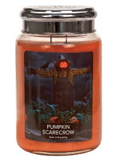 Village Candle Pumpkin Scarecrow Large Jar