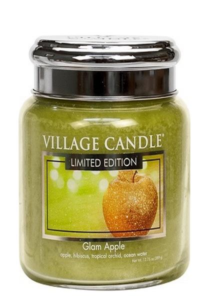 Village Candle Glam Apple Medium Jar