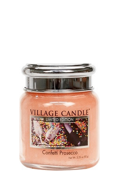 Village Candle Confetti Prosecco Mini Jar