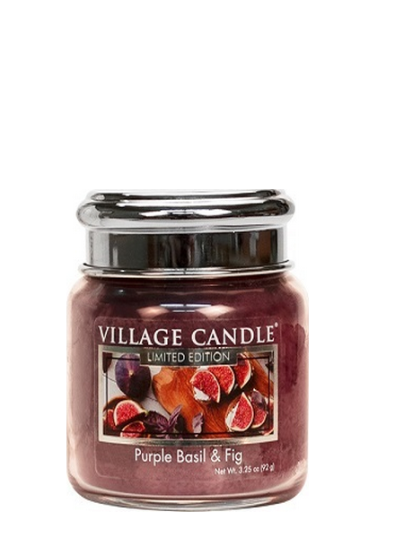 Village Candle Purple Basil & Fig Mini Jar