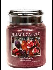 Village Candle Purple Basil & Fig Medium Jar