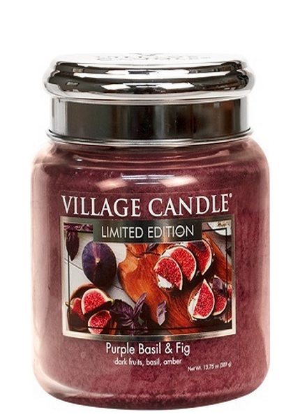 Village Candle Village Candle Purple Basil & Fig Medium Jar