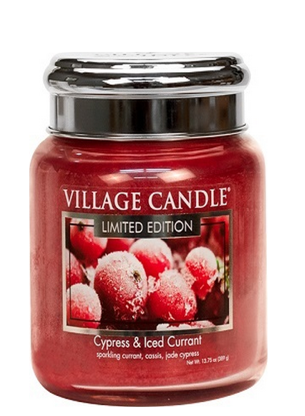 Village Candle Cypress & Iced Currant Medium Jar