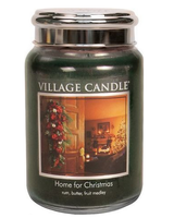 Village Candle Home For Christmas Large Jar