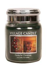 Village Candle Home For Christmas Medium Jar