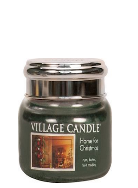 Village Candle Home For Christmas Small Jar