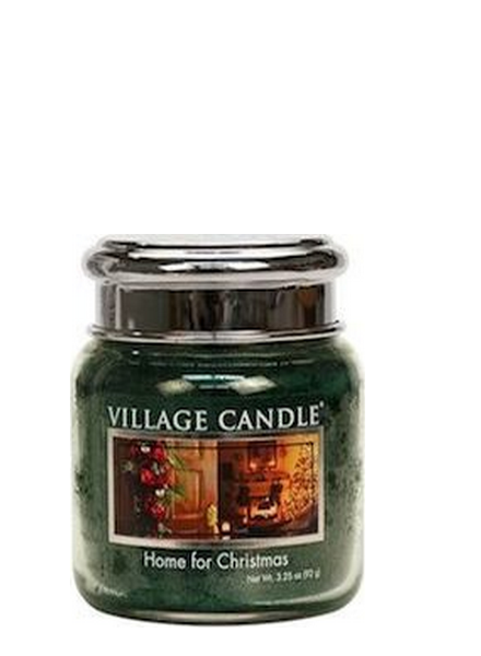 Village Candle Home For Christmas Mini Jar