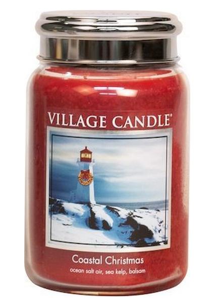 Village Candle Coastal Christmas Large Jar