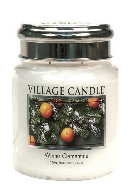 Village Candle Winter Clementine Medium Jar