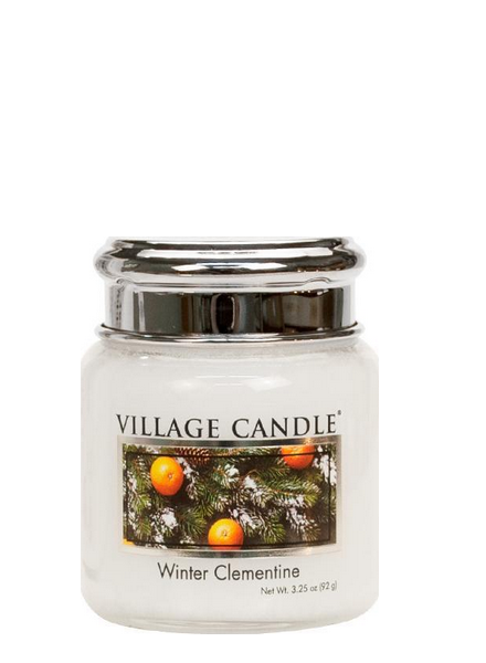 Village Candle Winter Clementine Mini Jar