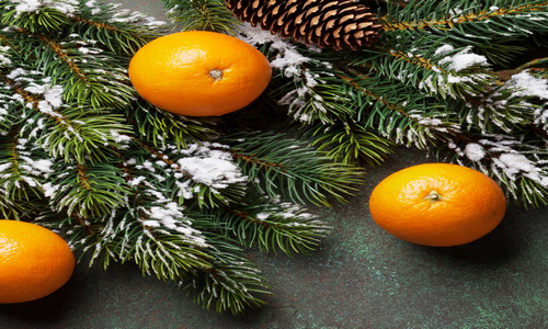 Village Candle Winter Clementine