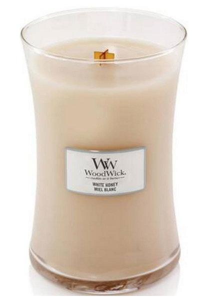 Woodwick Large White Honey