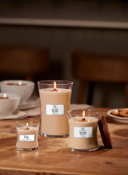 Woodwick WoodWick Large Candle White Honey