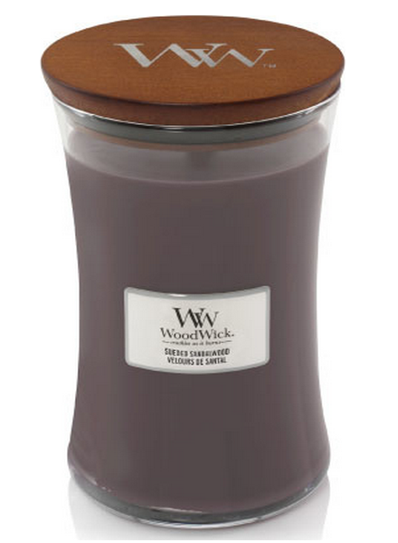 Woodwick WoodWick Large Candle Sueded Sandalwood