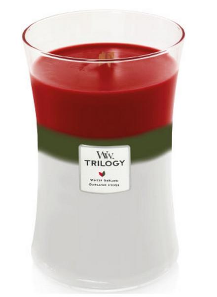 Woodwick WoodWick Winter Garland Trilogy Large Candle