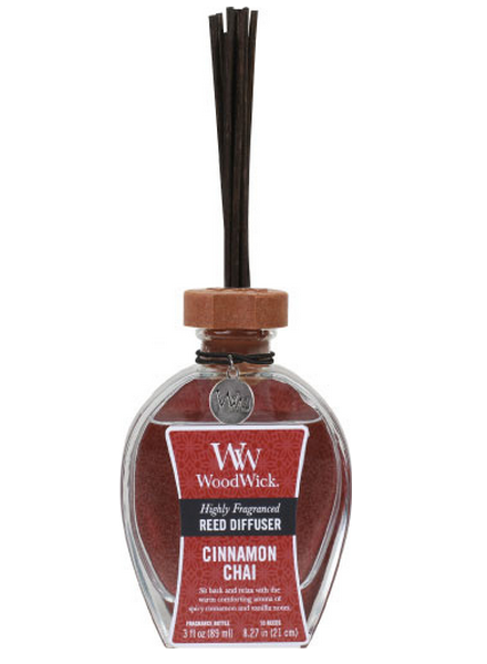 Woodwick Cinnamon Chai Geurstokjes - Reed Diffuser