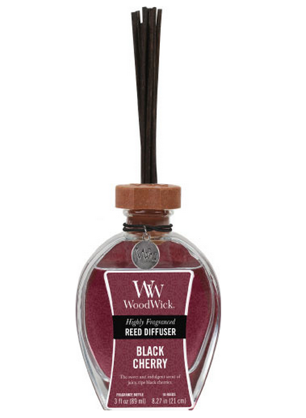 Woodwick Black Cherry Geurstokjes - Reed Diffuser