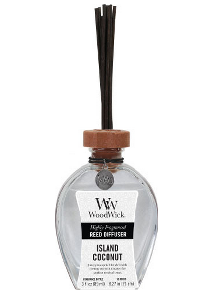 Woodwick Island Coconut Geurstokjes - Reed Diffuser