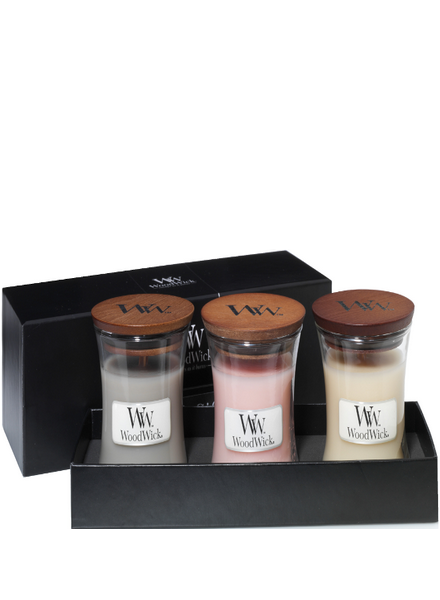 Woodwick Gift Set Deluxe Mini Jar
