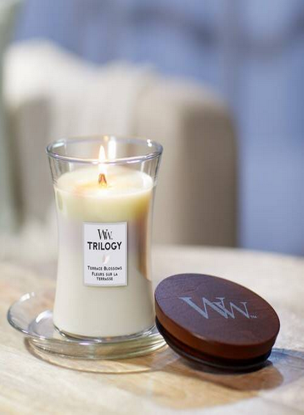 Woodwick Woodwick Terrace Blossoms Trilogy Large Candle