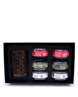 Woodwick Gift Set Deluxe Petite Candles & Candle Holder Winter