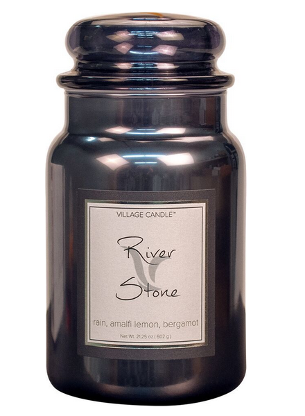 Village Candle Village Candle River Stone Metallic Large Jar