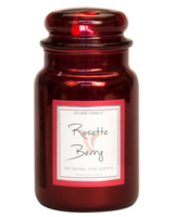 Village Candle Rosette Berry Metallic Large Jar
