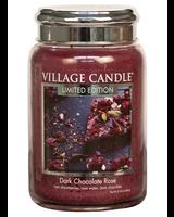 Village Candle Dark Chocolate Rose Large Jar