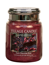 Village Candle Dark Chocolate Rose Medium Jar