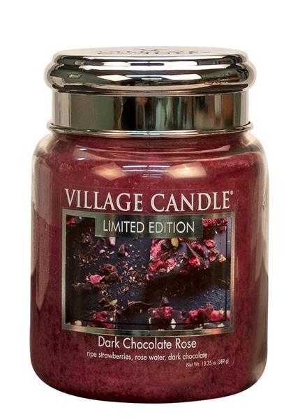 Village Candle Dark Chocolate Rose Medium Jar