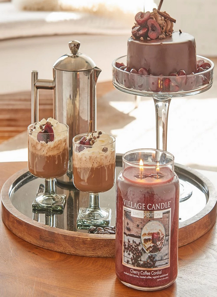 Village Candle Village Candle Cherry Coffee Cordial Medium Jar