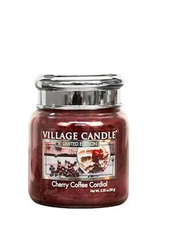 Village Candle Cherry Coffee Cordial Mini Jar