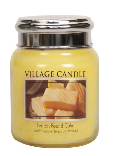 Village Candle Lemon Pound Cake Medium Jar