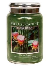 Village Candle Cactus Flower Large Jar