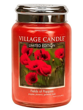 Village Candle Fields of Poppies Large Jar