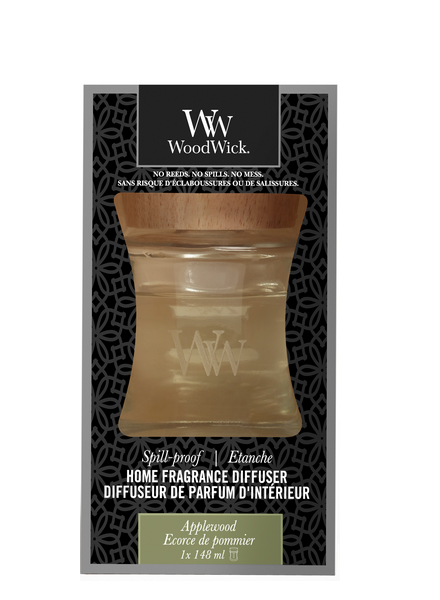 Woodwick Applewood Spill Proof Home Fragrance Diffuser