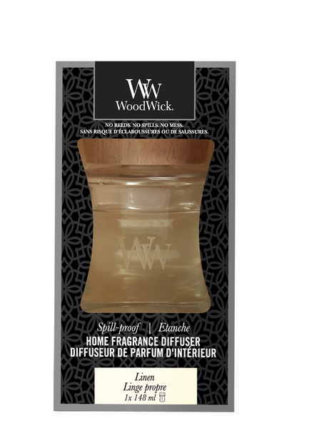 Woodwick Linen Spill Proof Home Fragrance Diffuser