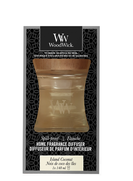 Woodwick Island Coconut Spill Proof Home Fragrance Diffuser