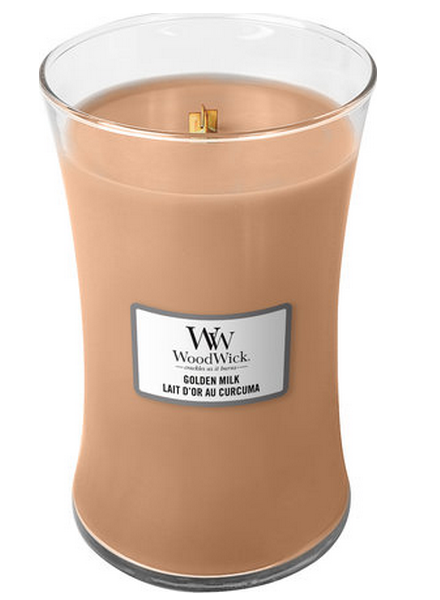 Woodwick WoodWick Large Candle Golden Milk