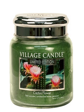 Village Candle Cactus Flower Medium Jar