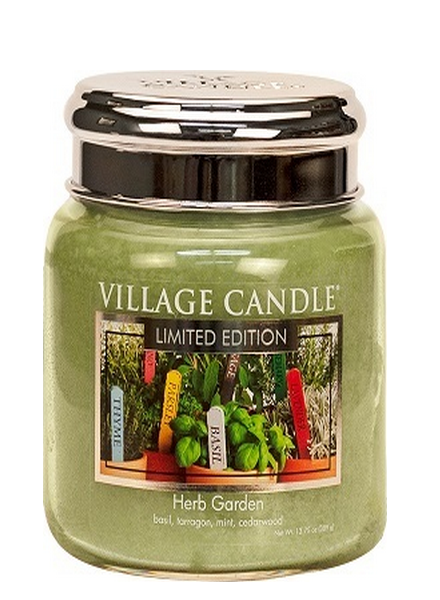 Village Candle Herb Garden Medium Jar