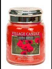 Village Candle Fields of Poppies Medium Jar