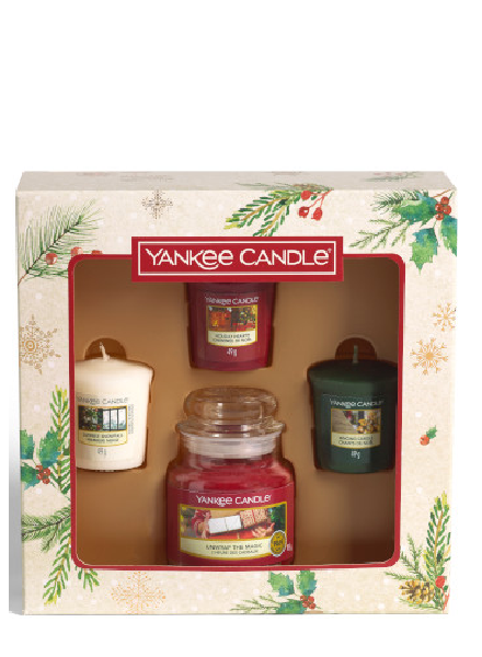 Yankee Candle Small Jar & 3 Votive Christmas Giftset 2020