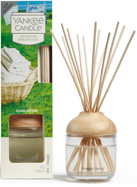 Yankee Candle Clean Cotton Reed Diffuser Geurstokjes