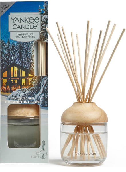 Yankee Candle Candlelit Cabin Reed Diffuser Geurstokjes